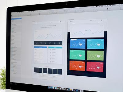 Plasso Command grid portfolio shadow graph minimal web ux ui dashboard