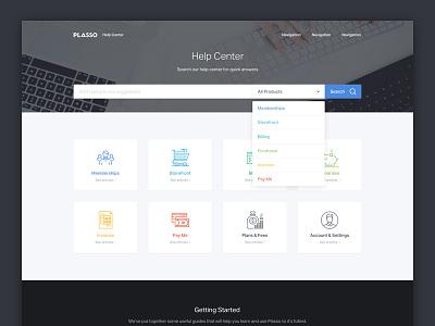 Help Center / Support Homepage support help business dashboard portfolio blog minimal grid