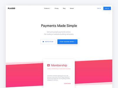 All New Plasso.com! ecommerce commerce subscription stripe money payments design plasso