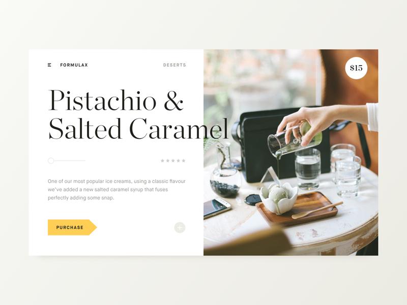 Desert Menu classy minimal card online restaurant menu blog portfolio grid