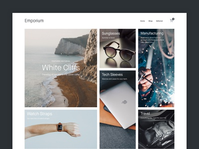 Emporium Shopify Store Theme portfolio photography minimal grid shop theme store commerce shopify