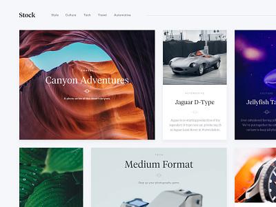 Stock - Magazine Layout minimal photography ux ui shopify wordpress grid portfolio blog