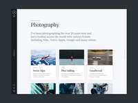 Photography Portfolio business wordpress ux ui web design portfolio photography