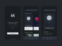 Movies App Concept dark ui minimal apple iphone ios app