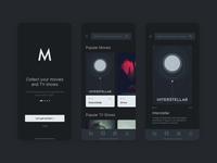 Movies App Concept dark ui minimal apple iphone ios app