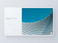 Architectural Digest app web blog portfolio ui clean minimal