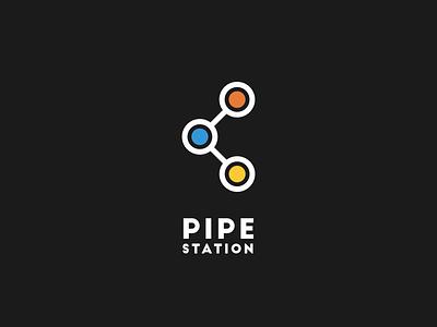 Pipe Station Logo brand mark logo ios illustration identity idea icon good drawing design app