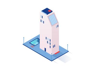 Pool it ! vector building ui design ui game illustration town design illustrator