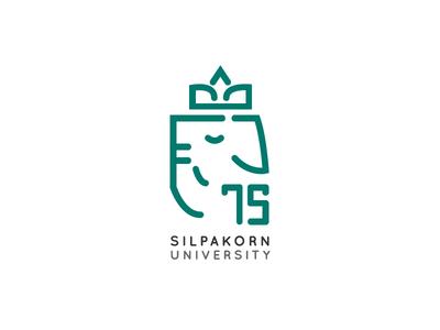 75 Years Silpakorn University Logo identity thai thailand university design icon logo ganesha