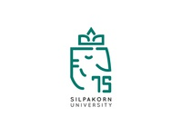 75 Years Silpakorn University Logo