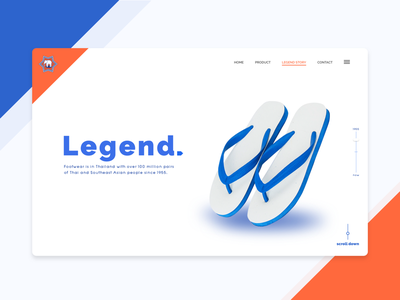 Chang dao - Website Redesign web design legend website design shoe chang dao