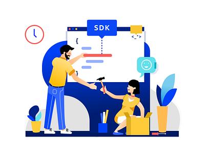 SDK illustration tool design website web developer dev service illustration sdk