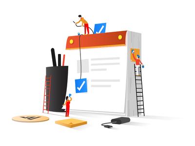 Reminders - Plan plan calendar reminders design vector illustration icon