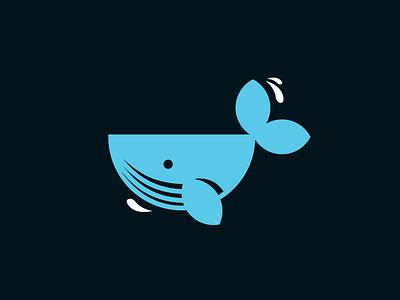 Whaledone Studio Start ! whale animal logo