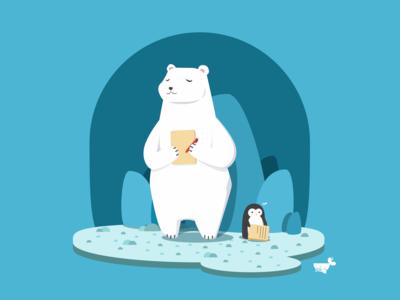 AE : Character | Whaledone Studio branding concept character concept mood polarbear polar bear vector illustration design