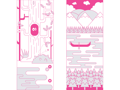 Nature sketches vector illustration
