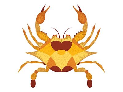 Geometric Crab geometric vector illustration