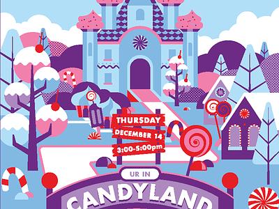 Candyland Dribble christmas holidays candyland geometric vector illustration