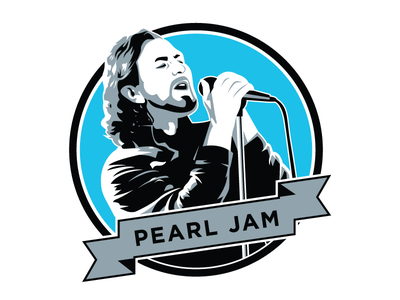 Pearl Jam music vector illustration eddie vedder pearl jam