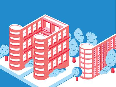 Music Buildings buildings music isometric geometric vector illustration