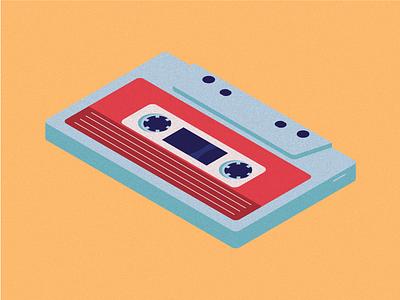Cassette isometric vector illustration