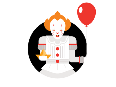 Pennywise pennywise it horror movies horror halloween character vector illustration