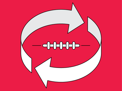 Football Stadium Recycling recycling football vector illustration