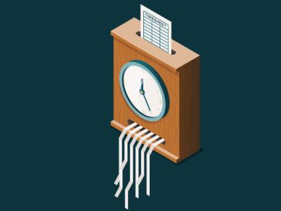 timesheet vector isometric illustration