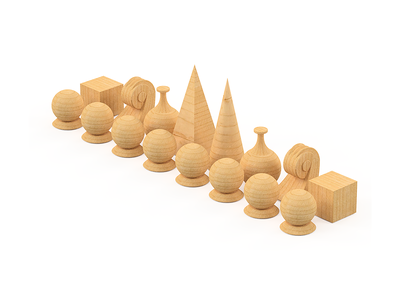 Modified Man Ray Chess Set fusion360 chess
