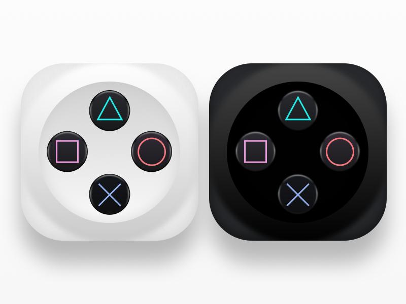 Daily UI Challenge #005 - App Icon skeuomorphism buttons icon app icon daily ui challenge controller playstation