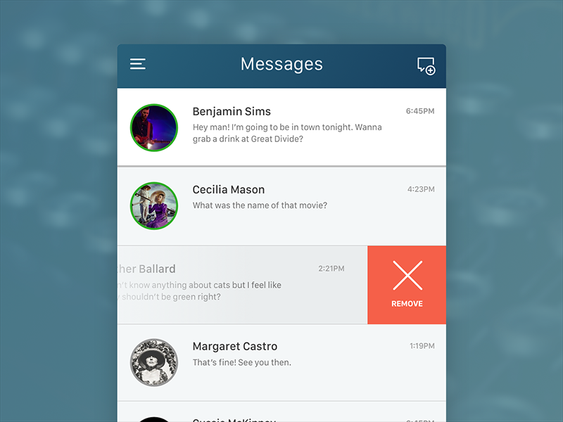 Daily UI Challenge #013 - Direct Messages iphone dailyui message