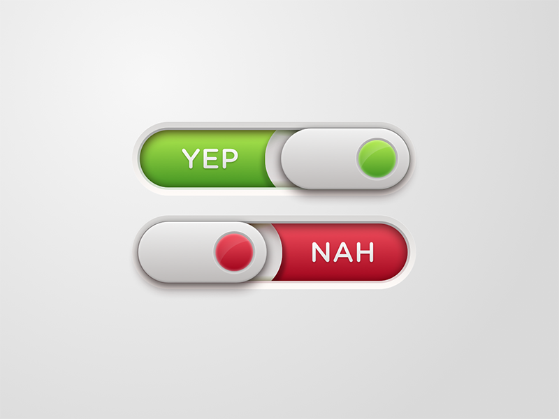 Daily UI Challenge #015 - On/Off Switch skeuomorphic onoff switch dailyui