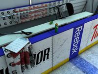 3D Hockey Bench Scene