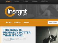 Insrgnt-[arts] logo and web branding first draft