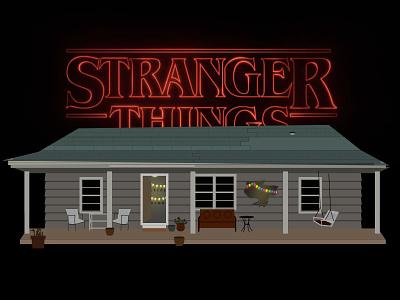 Stranger Things things stranger illustration tv sketch vector house netflix stranger things