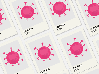 Corona 2020 covid-19 covid19 design 2d vector 2020 illustration flat post stamp virus corona