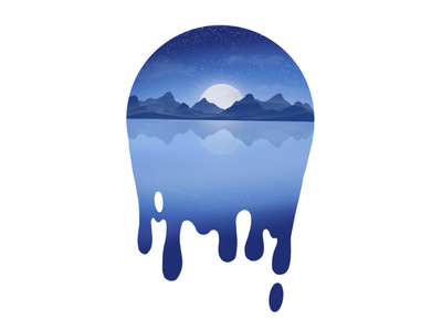 Falling into your ocean eyes ipad procreate app digitalart digital illustration landscape apple pencil applepencil brushes brush procreate illustration