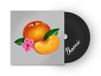 Phoenix Album Cover - Bankrupt noise flat illustration cover music band album cover album peach ipad applepencil apple pencil apple procreate app procreate illustration record vynil phoenix