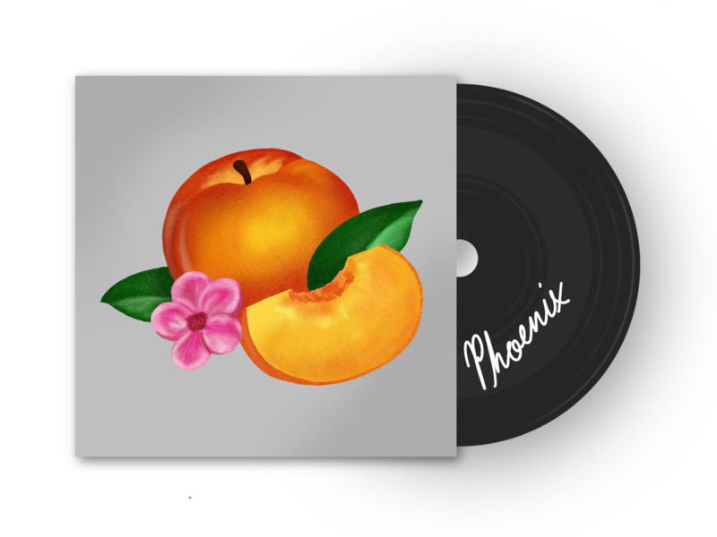 Phoenix Album Cover - Bankrupt noise flat illustration cover music band album cover album peach ipad applepencil apple pencil apple procreate app procreate illustration record vynil phoenix