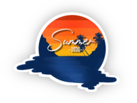 Summer 2020 weekly challenge weekly warm-up weeklywarmup retro vintage apple pencil applepencil procreate app logo procreate badge sunrise sunset summertime summer