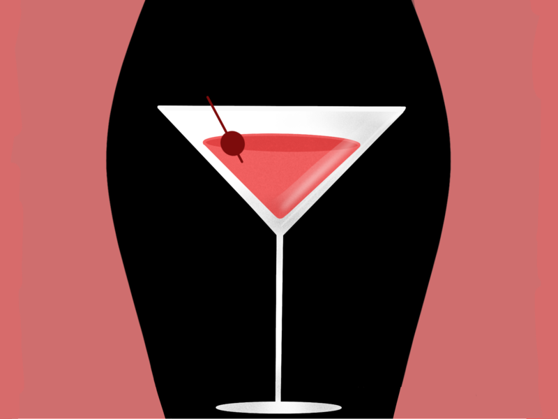 Sex and the City dribbbleweeklywarmup weekly warm-up weeklywarmup tv series tv show dribbble illustration art series television tv sex and the city sex cocktail martini shadow design illustration
