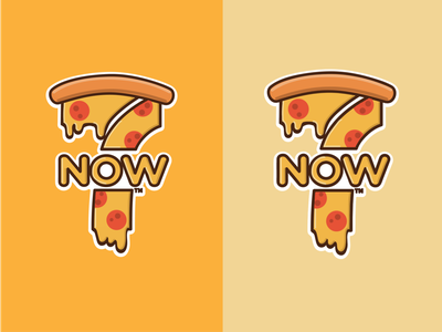 7NOW - The Cheesiest Delivery logo design branding flat illustration pizza logo tshirt cheesy cheese 7-eleven logo pizza illustration