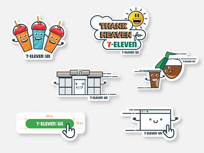 Oh Thank Heaven for 7-Eleven! 711 7eleven stickermule stickers weeklywarmup branding logo illustrator 2d flat illustration vector design 7-eleven illustration