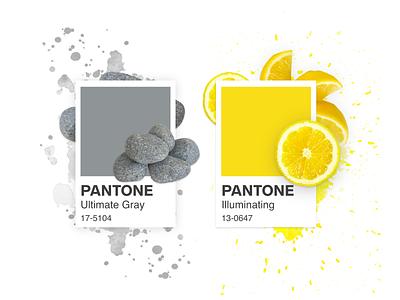 Pantone 2021 2021 design 2021 trend 2021 shadow illustrator design color watercolor yellow gray pantone2021 pantone illustration