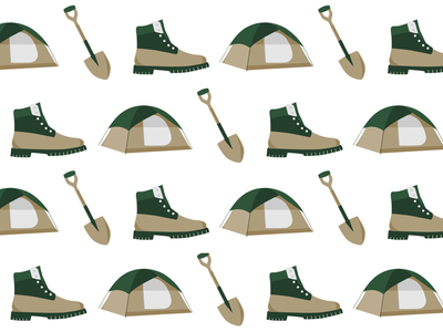 Boy Scouts stickers green greens khaki hike camping boot shovel hiking outdoors stickers boy scouts scouting scout design illustration