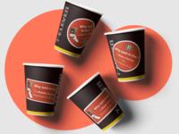 Paper Cups Mockup Scene