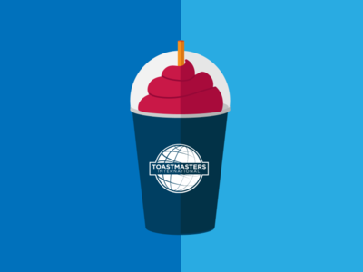 Oh! Thank Heaven public speaking toastmasters logo drink vector slurpee illustrator flat illustration 7-eleven design illustration 2d