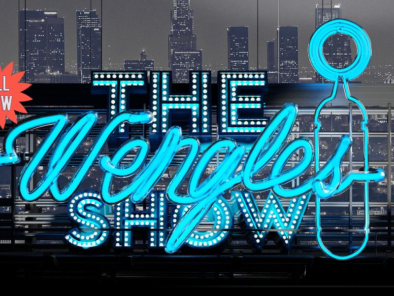 The Wengles Show Branding 2013/2014 cinema 4d typography 3d radio show logo neon