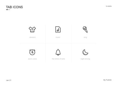 tab icons