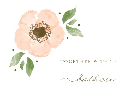 Painted Flower Wedding Invitation